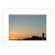 Coucher de soleil à La Ponte de Trévignon, ciel doré, du rose au bleu, phare de Trévignon