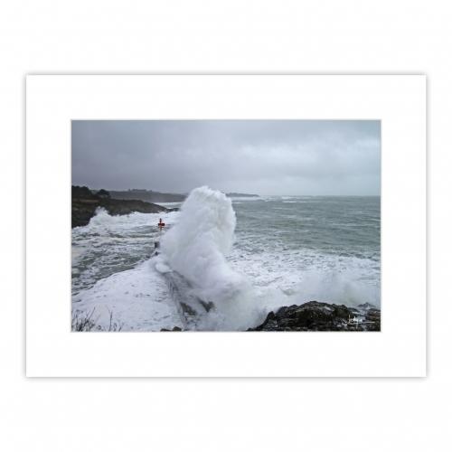 Tempête hivernale - Digue de Brigneau - Moëlan-sur-Mer - 31-01-2021